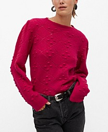 Women's Embossed Contrasting Knit Sweater
