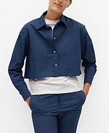 Women's Cropped Cotton Shirt