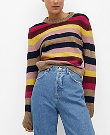 Women's Multi-Colored Knit Sweater
