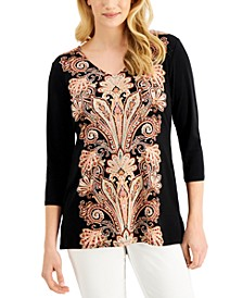 Printed Crepe Top, Created for Macy's