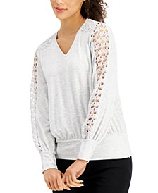 Lace-Sleeve Top, Created for Macy's