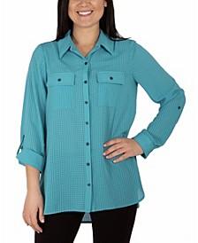 Women's 3/4 Sleeve Y Neck Blouse
