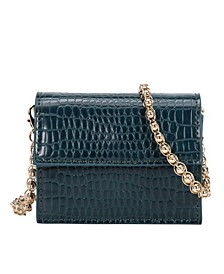 Bianca Mini Croco Vegan Leather Crossbody