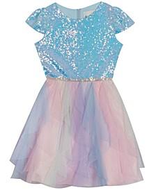Big  Girl Glitter Cascade Dress