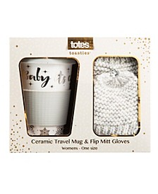 Totes Women's Travel Mug and Flip Mitten Gift Set