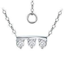 """Cubic Zirconia Bar 18"""" Pendant Necklace, Created for Macy's"""