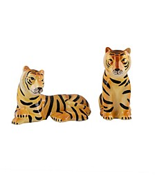 Ceramic Tigers Salt & Pepper Set