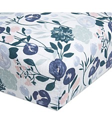 Essentials Cotton Muslin Crib Sheet Flowers Bloom Collection