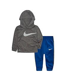 Baby Boys Hooded Shirt and Pants Set