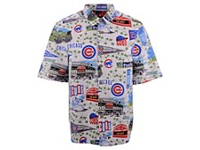 Authentic MLB Apparel Chicago Cubs Men's Scenic Print Short Sleeve Shirt