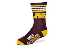 Minnesota Golden Gophers Youth 4 Stripe Deuce Crew Socks