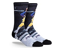 Parkway Men's Los Angeles Lakers Pop Player Crew Socks