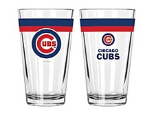 Chicago Cubs 16-oz. Double-Banded Pint Glass