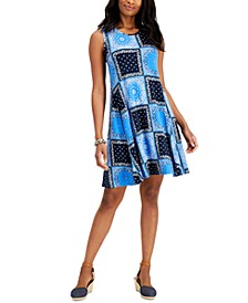 Petite Printed Swing Dress, Created for Macy's