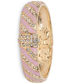 Gold-Tone Pavé & Stripe Bangle Bracelet, Created for Macy's