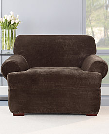 Sure Fit Stretch Plush 2-Piece Chair Slipcover