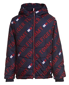 Toddler Boys Printed Puffer Jacket