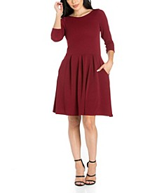 Women's Perfect Fit and Flare Pocket Dress
