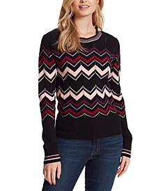 The Marcelina Chervron Sweater