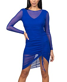 Juniors' Side-Ruched Bodycon Dress