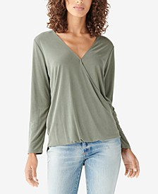 Sandwash Cotton Surplice Top