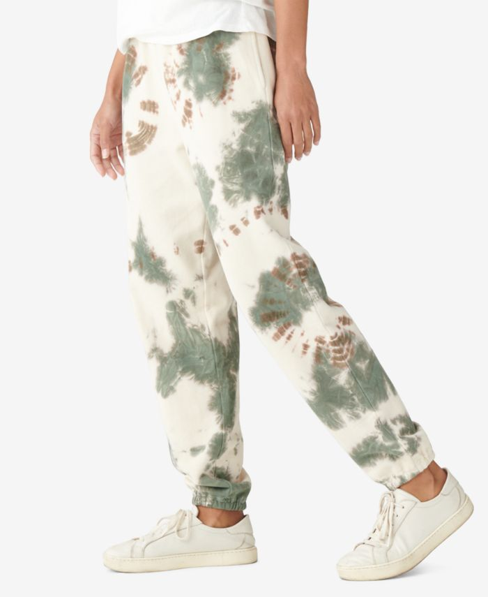 Lucky Brand Tie-Dyed Jogger Pants   & Reviews - Pants & Leggings - Women - Macy's