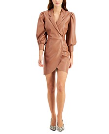 Faux-Leather Mini Dress, Created for Macy's