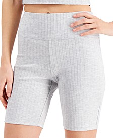 Knit Ribbed Bike Shorts, Created for Macy's