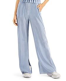 Straight Leg Split Hem Pants