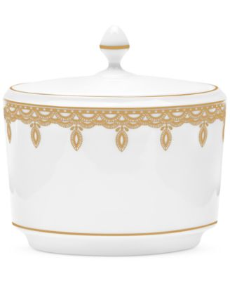 Lismore Lace Gold Covered Sugar Bowl