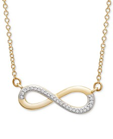"""Diamond Infinity 17"""" Pendant Necklace (1/20 ct. t.w.) in 14k Gold, Created for Macy's"""