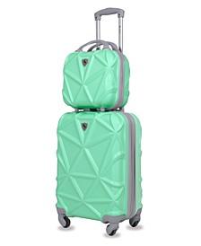 Gem 2-Pc. Carry-On Hardside Cosmetic Luggage Set
