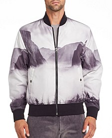 Men's Slim-Fit Grizzly Bear Bomber