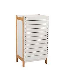 2 Shelf Bamboo Floor Cabinet