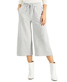 INC Cropped Wide-Leg Sweatpants, Created for Macy's
