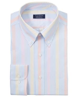 Men's Classic/Regular-Fit Performance Stretch Multi-Stripe Dress Shirt