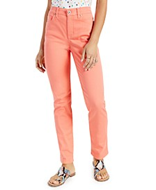 Petite High-Rise Natural Straight Leg Jeans, in Petite & Petite Short, Created for Macy's