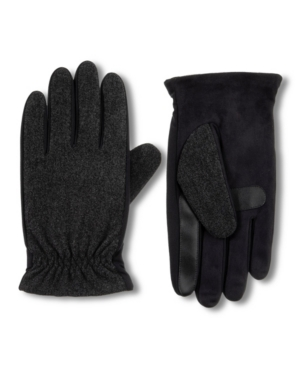Isotoner Men's Lined Casual Touchscreen Gloves