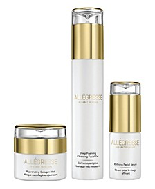 Allegresse 24K Skincare Rejuvenating and Cleansing 3 Piece Set