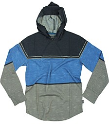 Big Boys Lincoln Color Block Stripe Jersey Pullover Hoody
