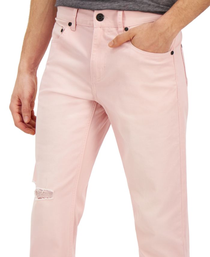 INC International Concepts INC Men's Pink Tapered Jeans, Created for Macy's & Reviews - Jeans - Men - Macy's