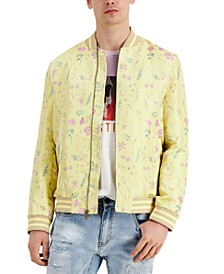 Men's Dylan Floral-Print Bomber Jacket, Created for Macy's