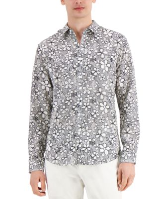 INC Men's Graphic Floral-Print Shirt, Created for Macy's