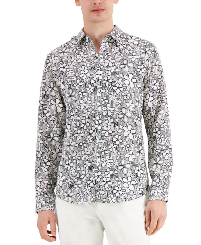 INC International Concepts INC Men's Graphic Floral-Print Shirt, Created for Macy's  & Reviews - Casual Button-Down Shirts - Men - Macy's
