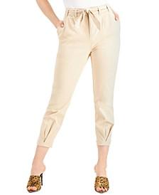 Blissa Cropped Tie-Waist Pants