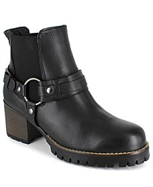 Women's Yolanda Leather Biker Boots