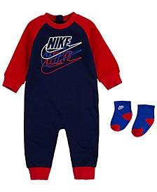 Baby Boys Futura Coverall Sock Set
