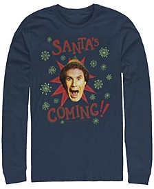 Men's Elf Not North Pole Long Sleeve T-shirt