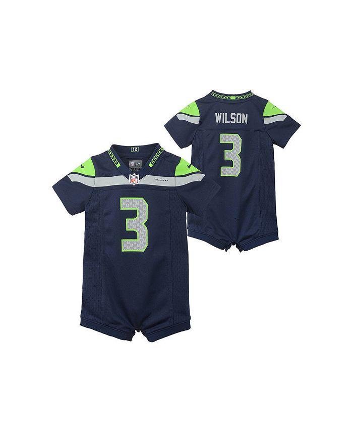Seattle Seahawks Infant Romper Jersey - Russell Wilson