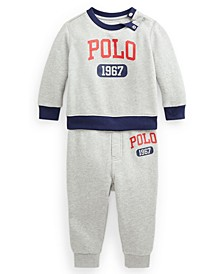 Ralph Lauren Baby Boys Graphic Fleece Sweatshirt Pant Set